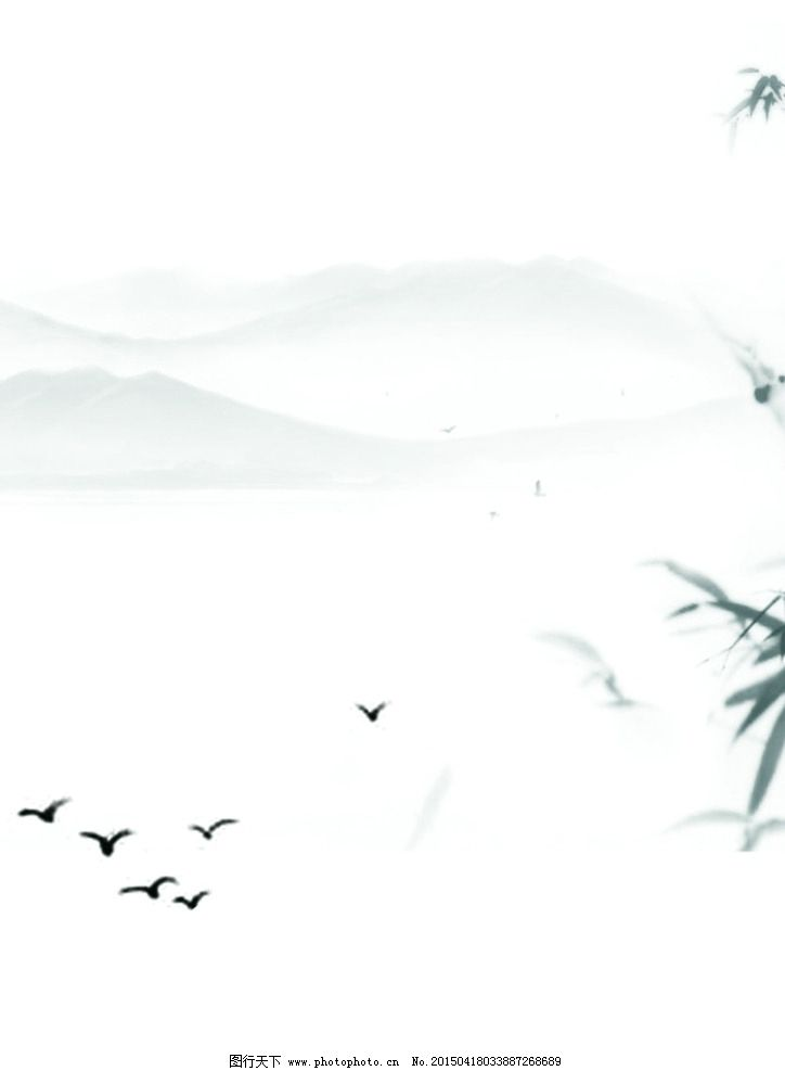 古风背景图 雁南飞 雁和竹子 雁竹背景图 古风 背景图 设计 其他 图片