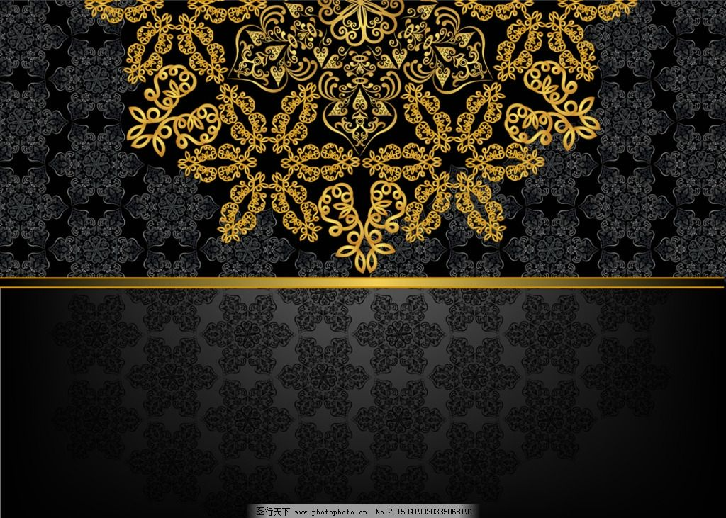 欧式金色花纹 金色边框