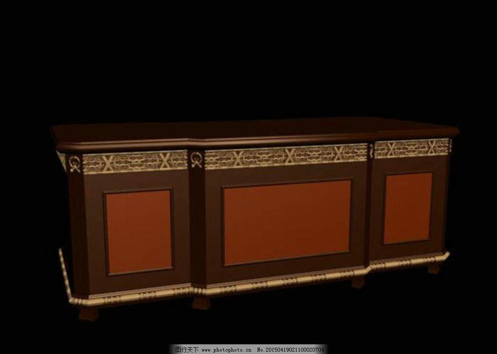 欧式矮柜模型图片