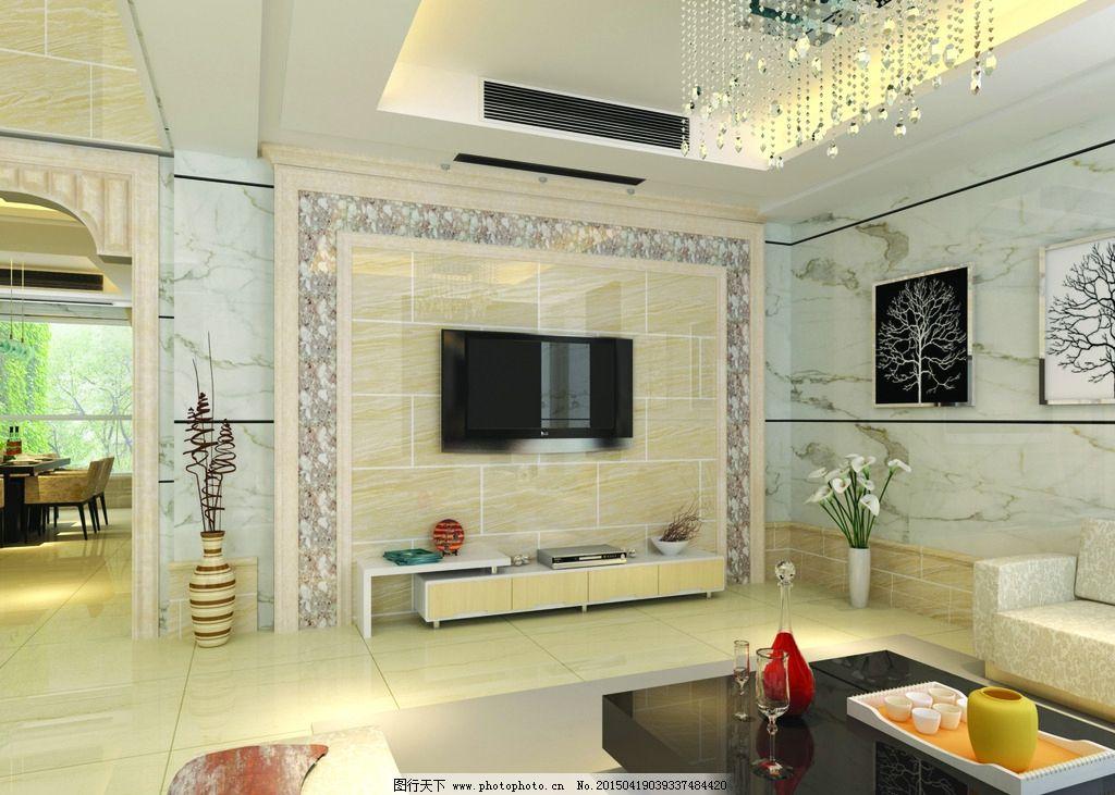 客厅 效果图 大理石 背景墙 装饰 温馨 室内效果图 摄影 建筑园林