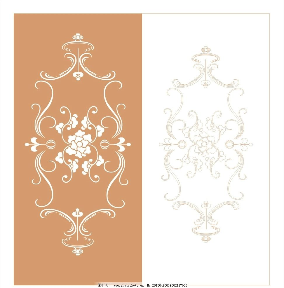 欧式花纹 抽象花纹 古典门窗花纹 玻璃门 木雕花纹 窗花 墙纸 镂空