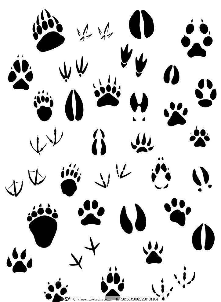动物脚印 野兽脚印轮廓