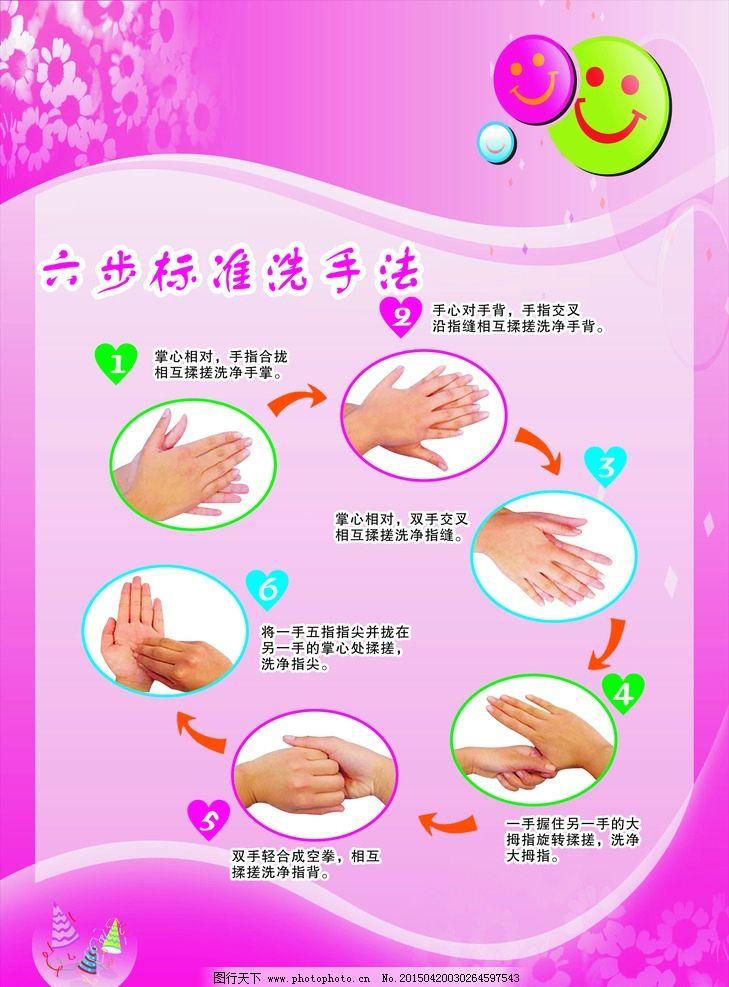 六步标准洗手法图片