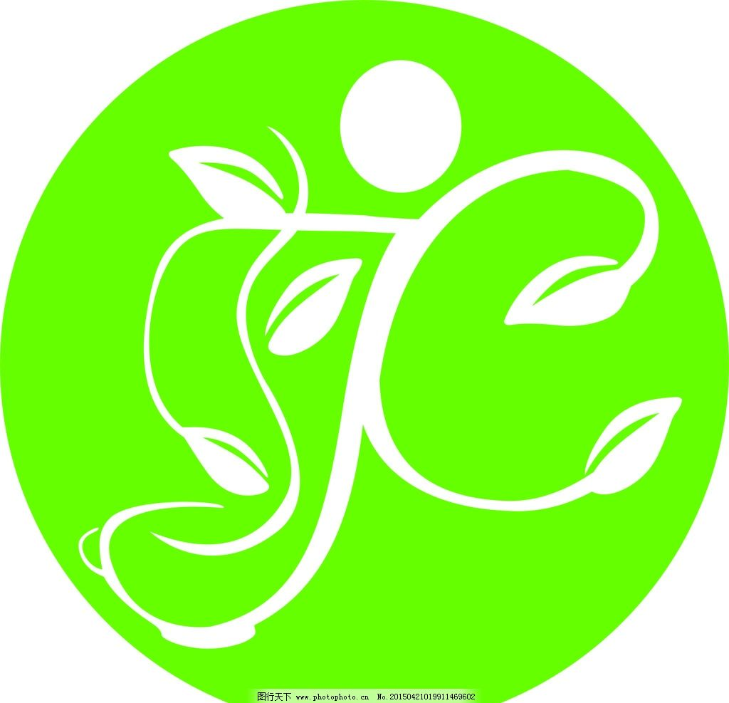 花茶 logo 茶 jc 花草茶 设计 标志图标 企业logo标志 cdr