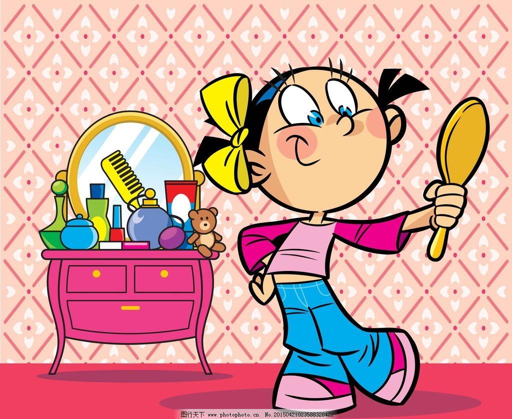 幼儿园镜子卡通