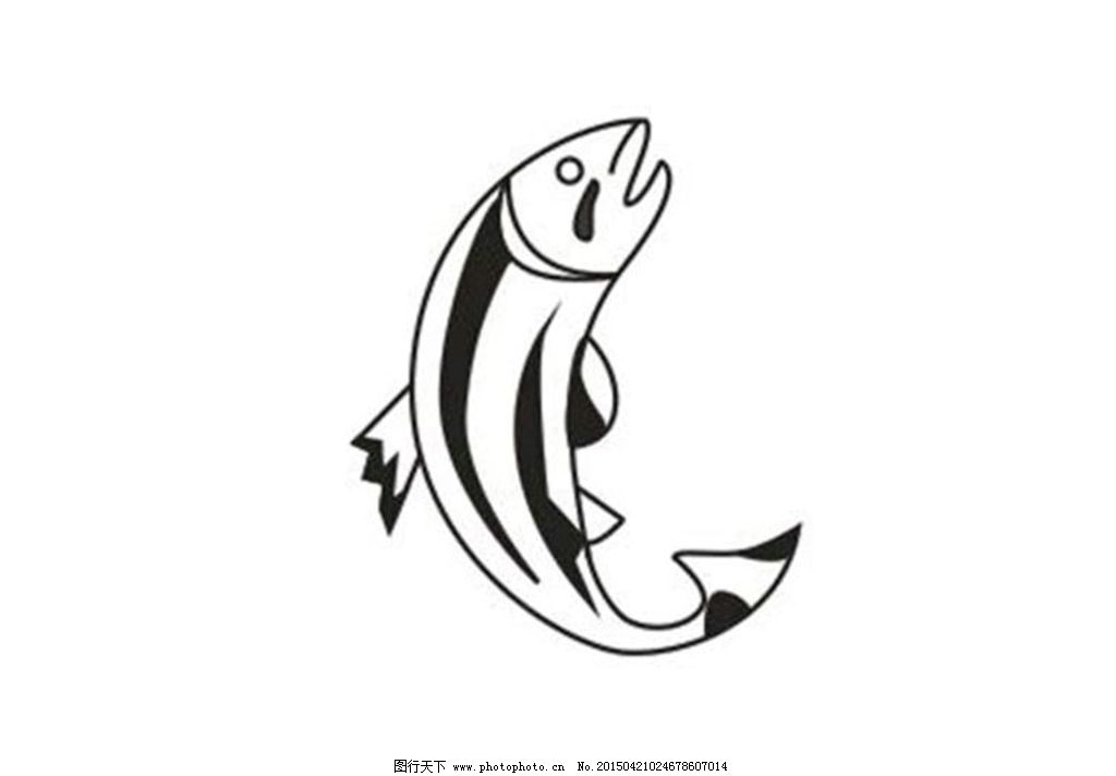 鱼 黑白鱼 简易黑白鱼 淘宝渔具设计 等 设计 生物世界 鱼类 cdr图片