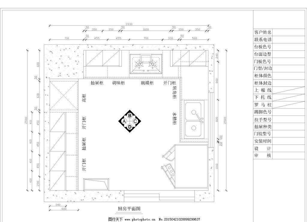 欧式厨房 简欧 美式 法式 平面图 立面图 cad源文件 设计 环境设计