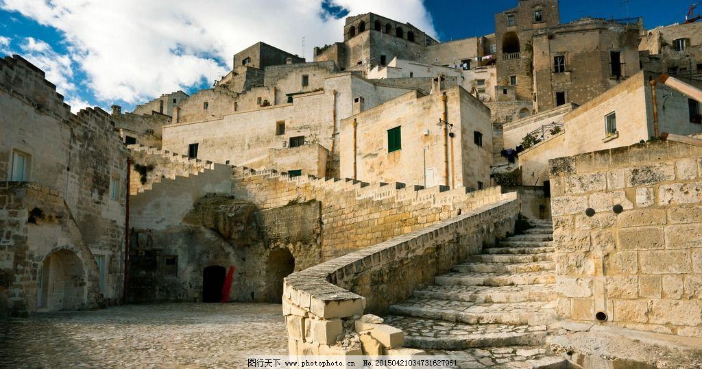 城堡 古堡 蓝天 白云 城墙 砖墙 穆斯林 摄影 建筑景观图片