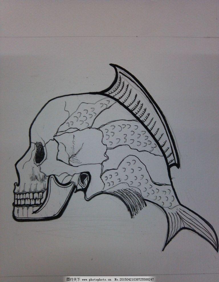 骷髅头 鱼 骷髅鱼 变异 异形物 摄影 文化艺术 美术绘画 72dpi jpg