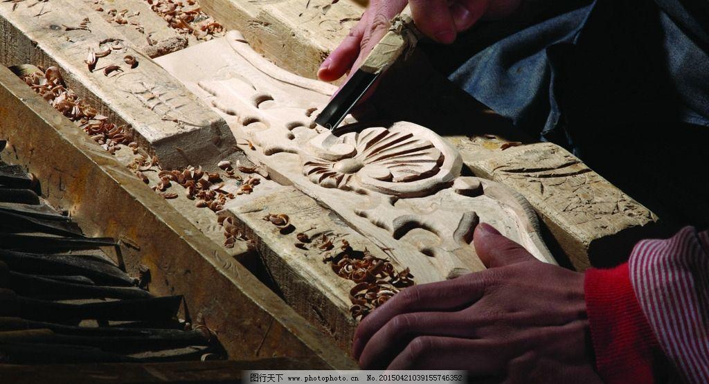 雕刻木艺细节展示图片