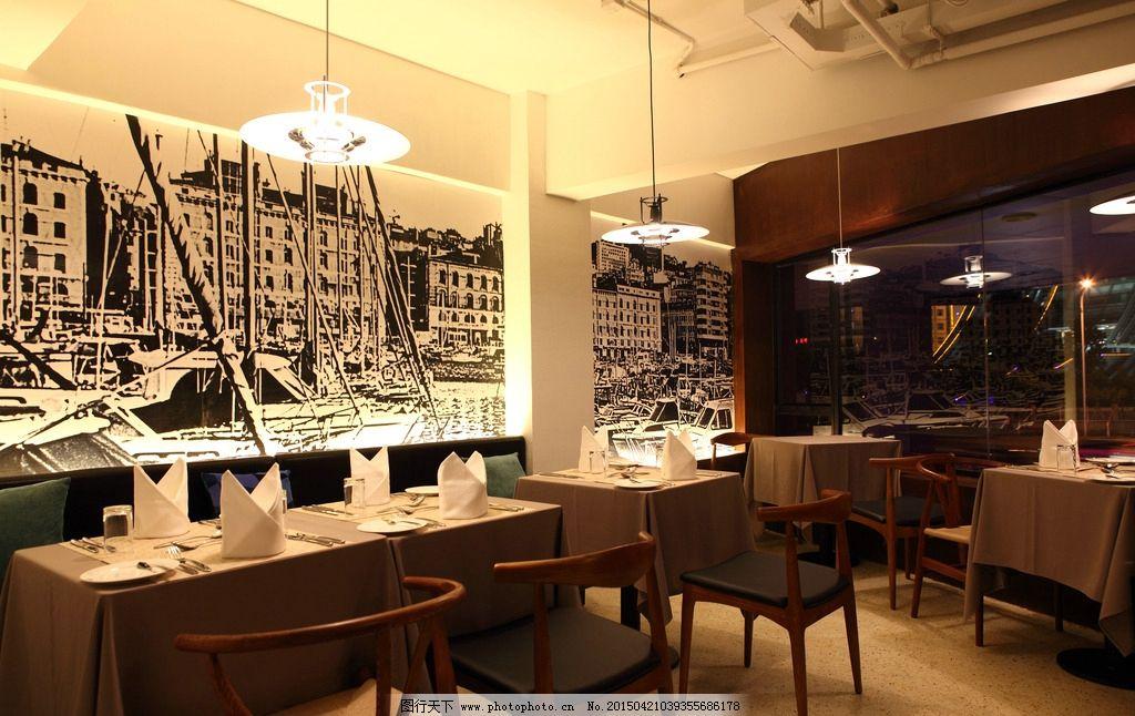 西餐厅 卡座图片_室内摄影