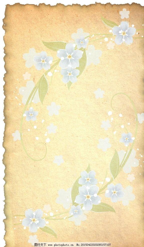 花卉背景 纸张 信纸