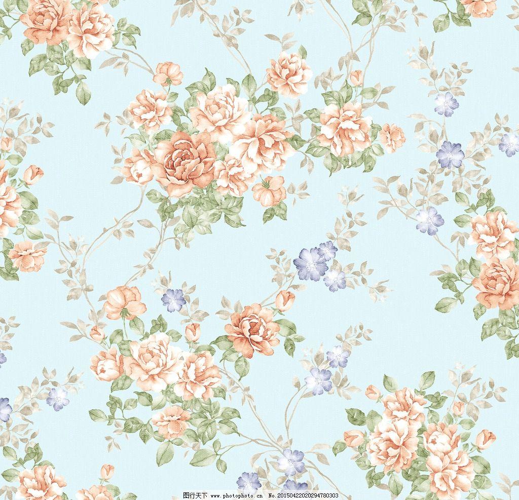 复古花朵背景图片
