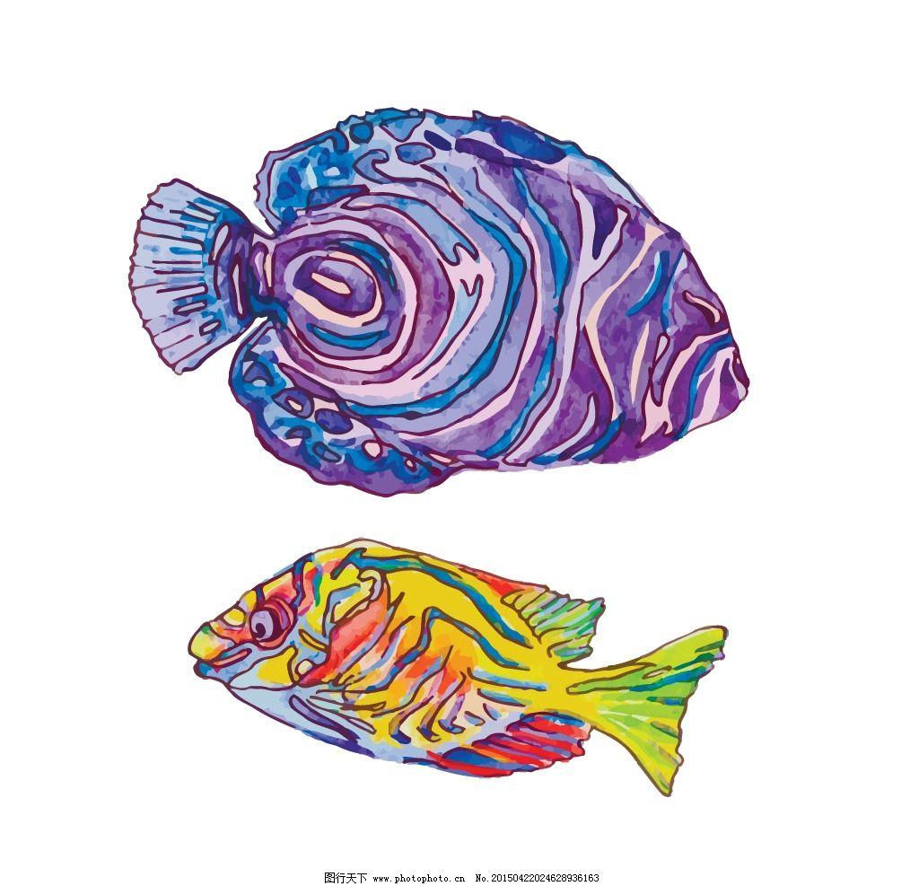 海洋生物 鱼 卡通鱼 海鲜 手绘 鱼类 生物世界 设计 eps 设计 生物