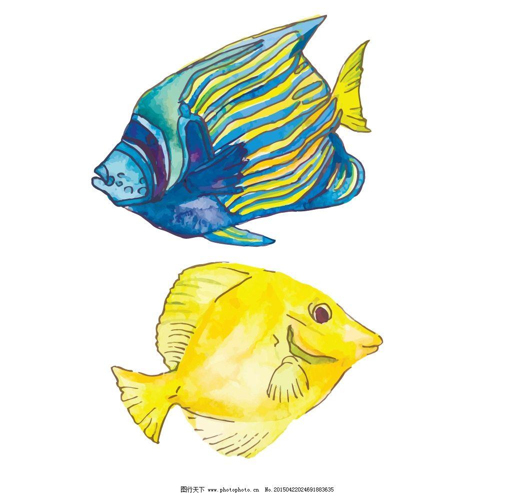 海洋生物 鱼 卡通鱼 海鲜 手绘