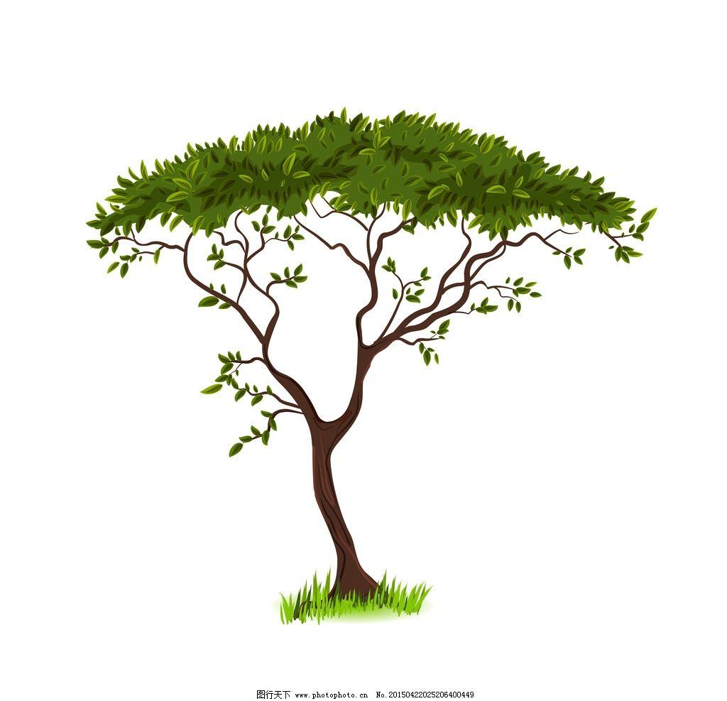 树木 绿叶 绿植 树叶 盆景 绿树 手绘树木 树木贴图 植物 矢量