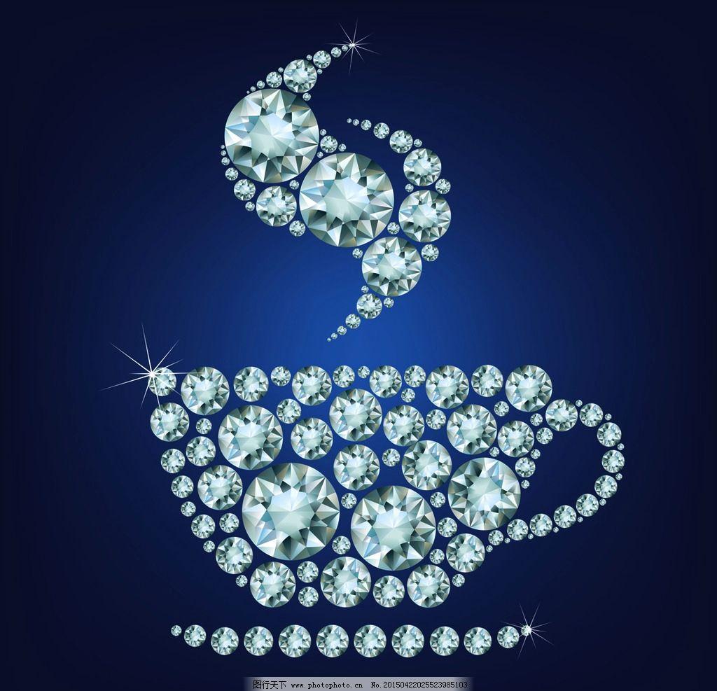 手绘钻石图片加字