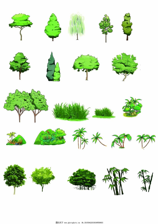手绘卡通树木