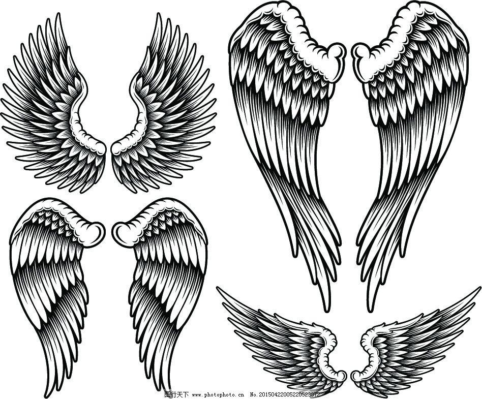 最美手绘天使翅膀
