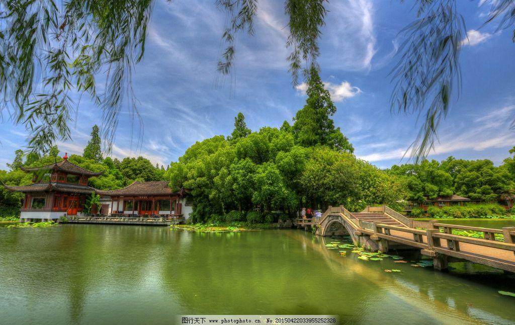杭州西湖 浙江 风景名胜区 水上园林 淡水 湖泊 湿地公园 世界文化