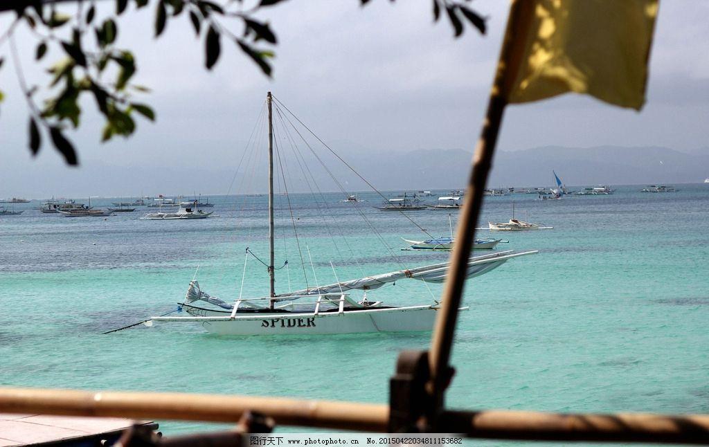 海岛 帆船 大海 远眺 热带 摄影