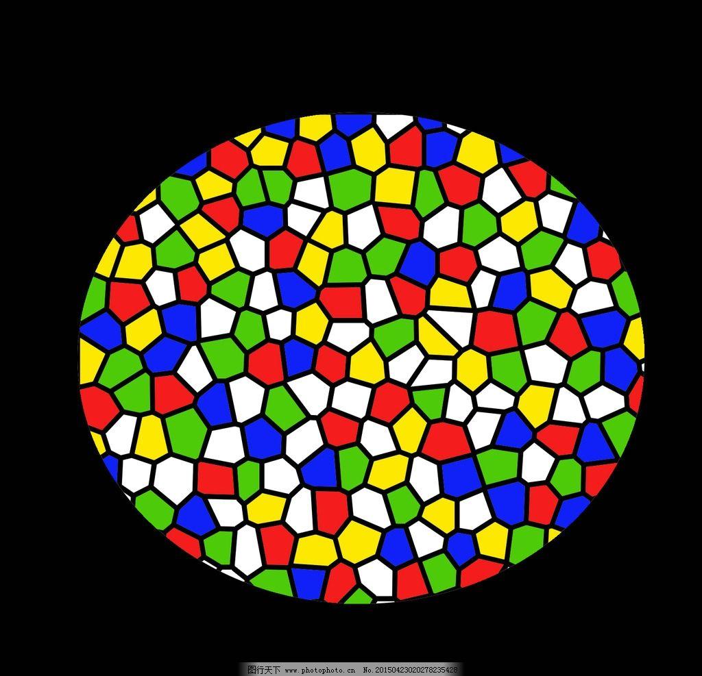 彩色 几何图案 蜂窝 装饰画 彩色玻璃 装饰图案 设计 底纹边框 背景底