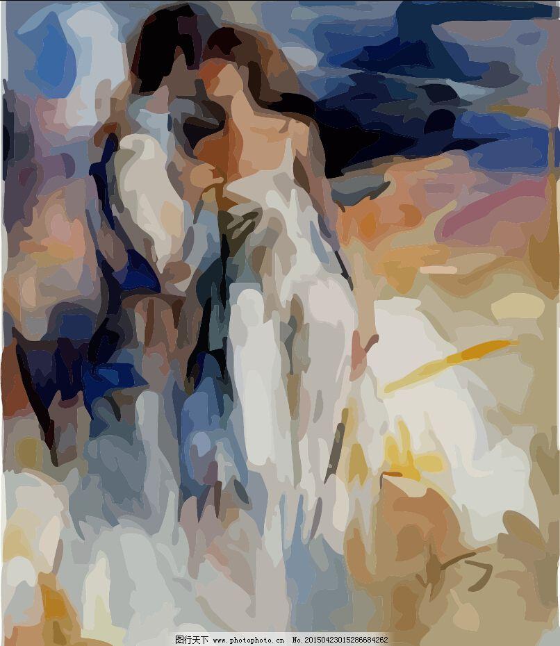 计 墙体设计 人物 水彩 夜景 油画 抽象油画 人物 油画 装饰画 夸张