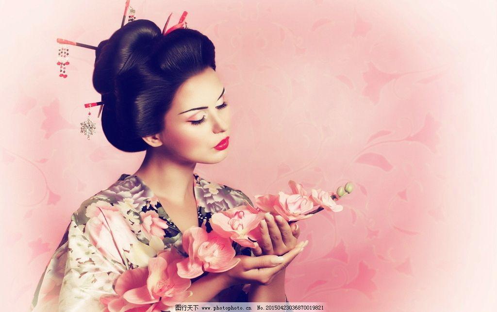唯美和服美女图片