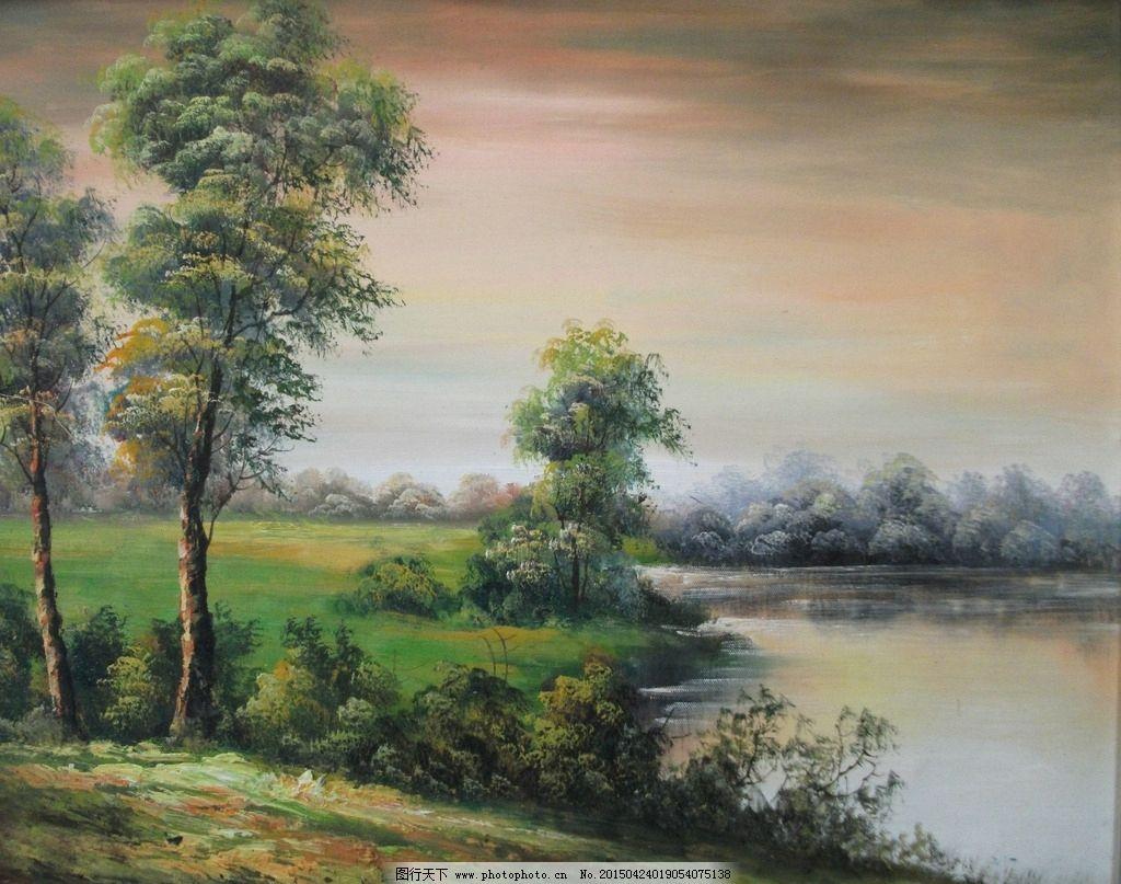 欧式油画风景图片