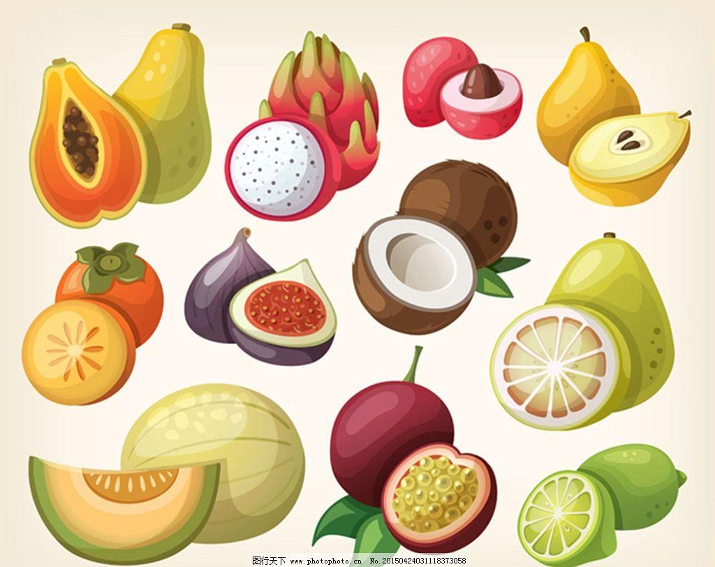 卡通水果表情