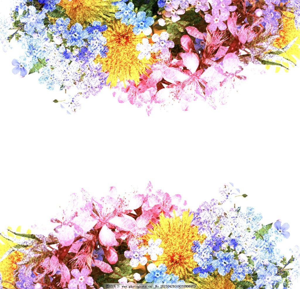 彩铅手绘花纹素材