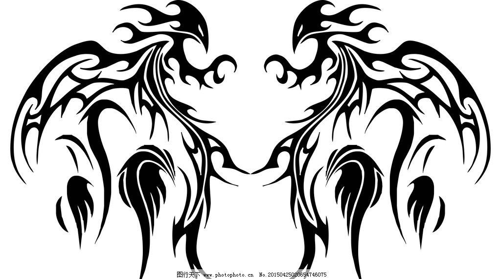 对称图案 黑白图 纹身图案 抽象 唯美 装饰图案 设计 底纹边框 抽象