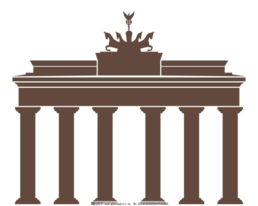 罗马柱 欧洲 石柱 雕刻 石刻 手绘 建筑材料 广告设计 矢量 eps 设计
