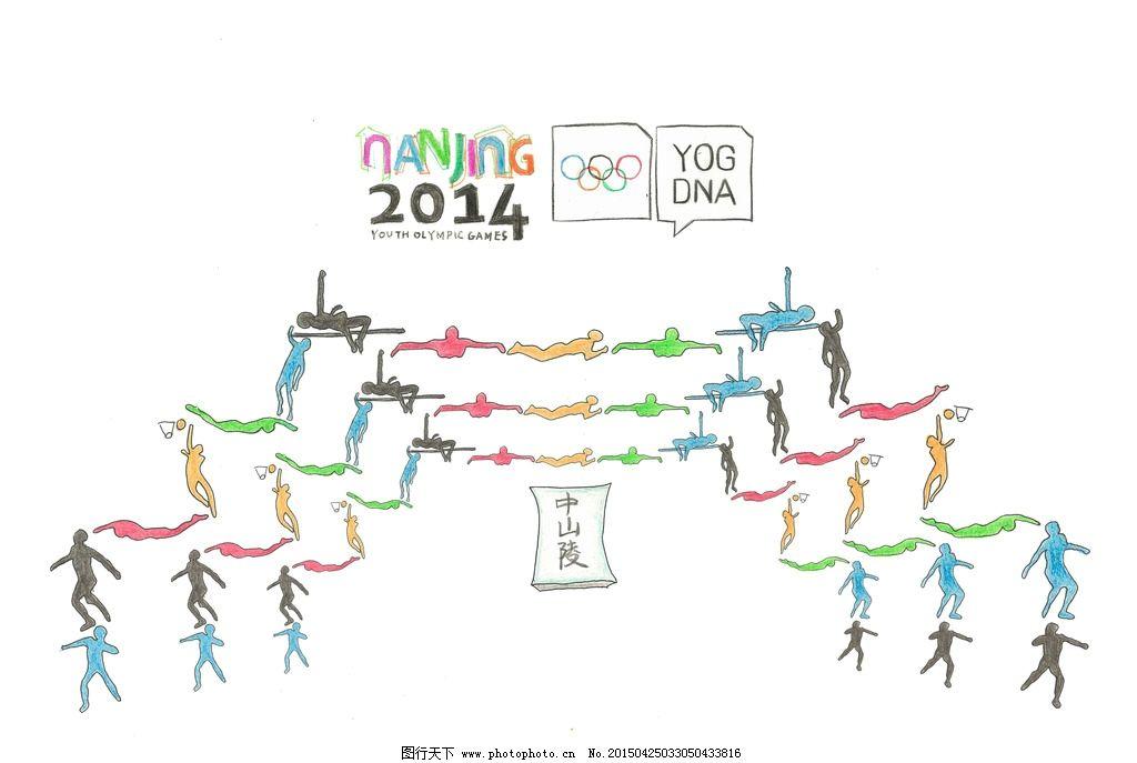 南京青奥会 南京 青奥会 中山陵 设计 手绘海报 设计 psd分层素材 psd