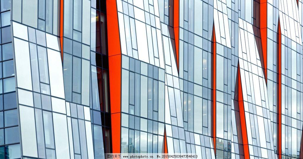 玻璃 窗户 建筑 外墙 高清 壁纸 红色 反射 摄影 建筑园林 建筑摄影