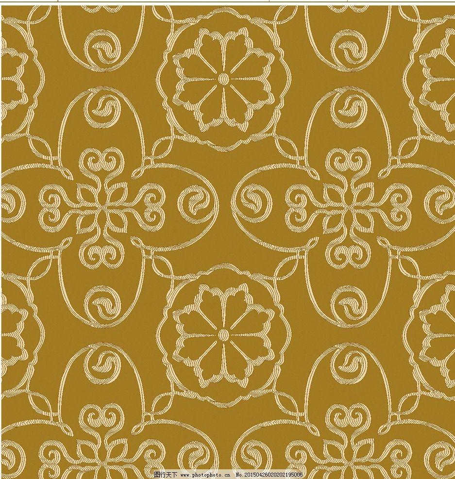 窗帘花型 平面设计 手绘花朵 抽象 图案 设计 底纹边框 抽象底纹 古典