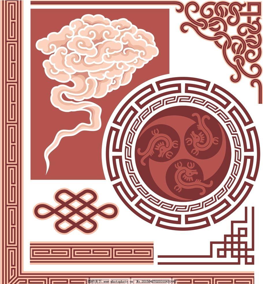 中式花纹 花纹 花纹分割线 花边 边框 相框 建筑花纹 剪纸花纹 民族