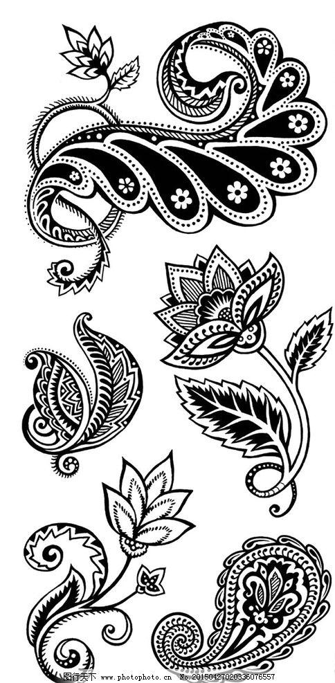 佩兹利 佩斯利 火腿纹 腰果花 欧式纹样 欧式图案 图案 设计 底纹边框