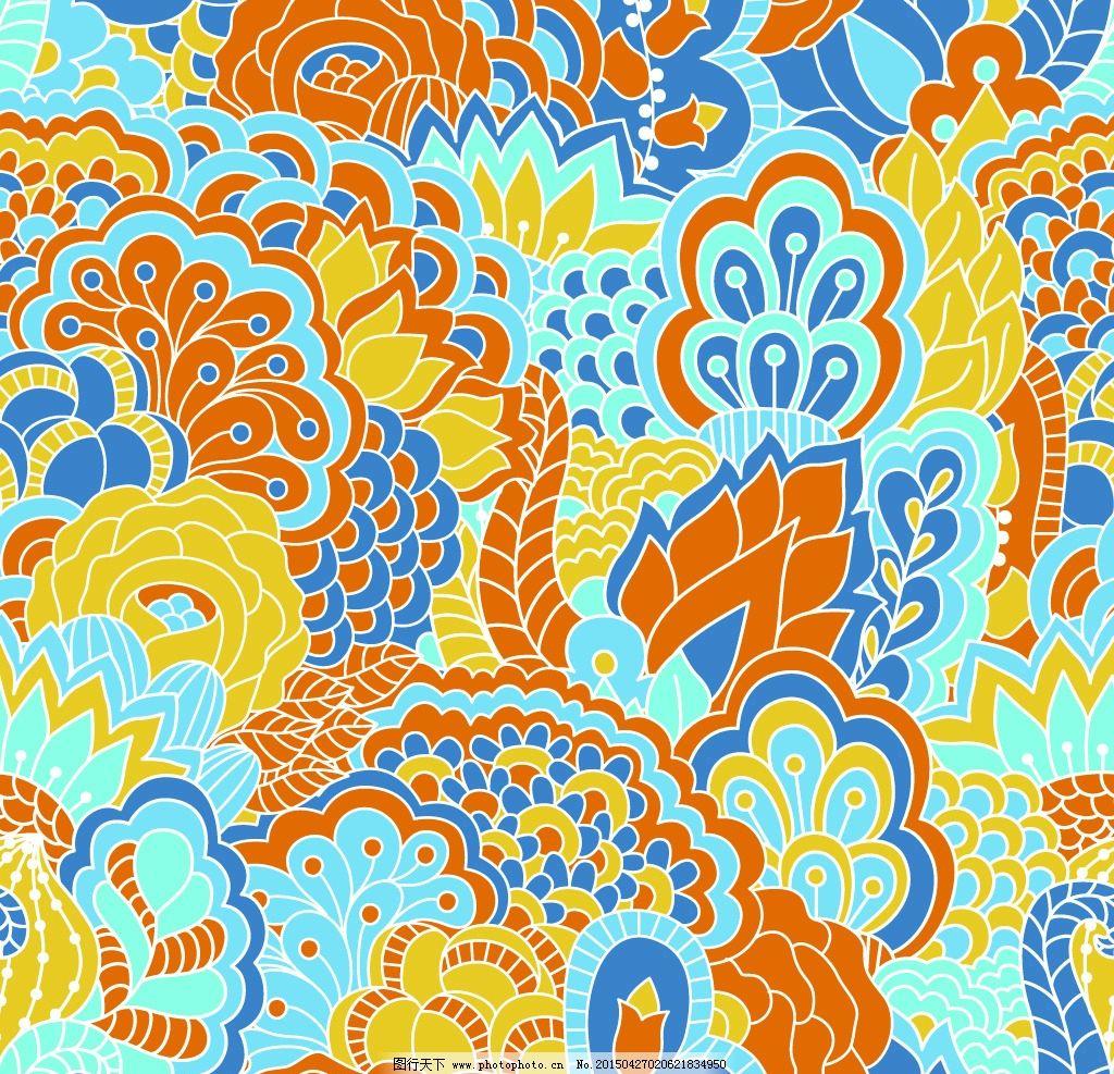 抽象花纹 植物花纹 欧式花纹 花卉 手绘 线条 民族装饰花纹 古典花纹