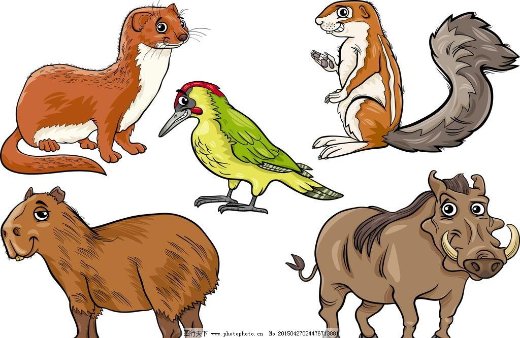 手绘霸气动物图片