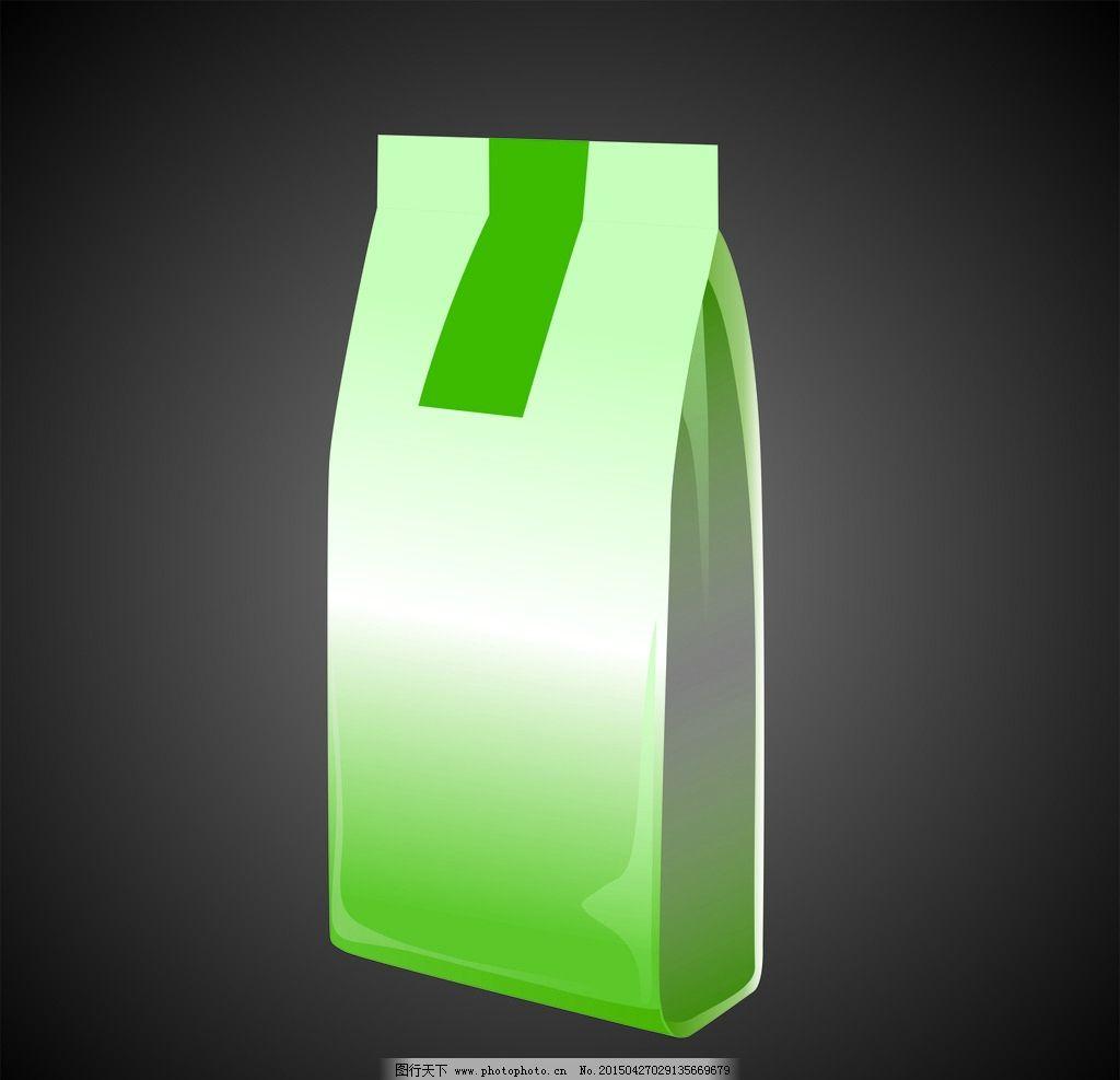 锡箔袋 铝箔袋 袋子 绿色 矢量图        矢量图 设计 广告设计 包装