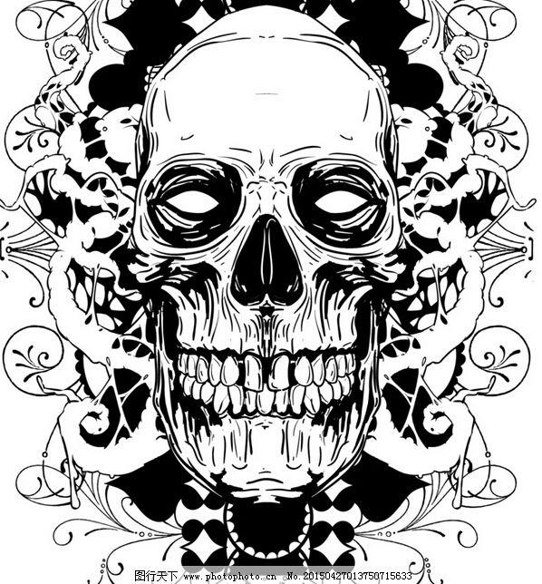 手绘 图案 恐怖图案 骷髅 骨骼 t恤 t恤衫花纹 手绘 t恤款式 图案