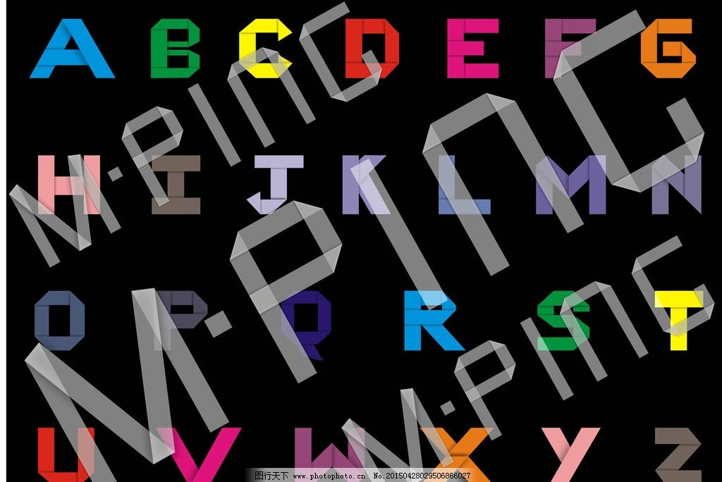 折纸字 大写字母 字体 设计 矢量图 创意字母 cdr画图 设计 广告设计
