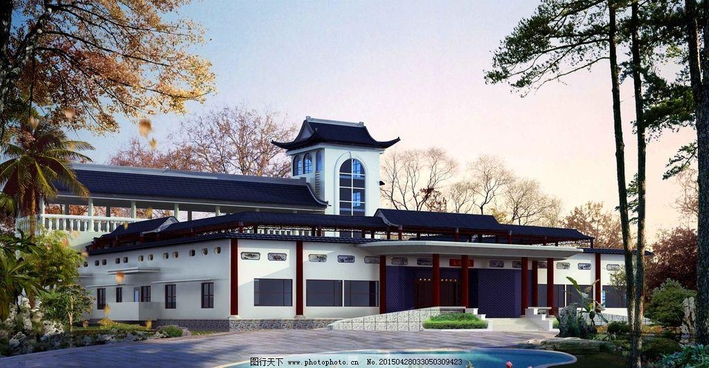 四合院 徽派建筑 中式 院落 园林景观        古代建筑 景观环境 设计