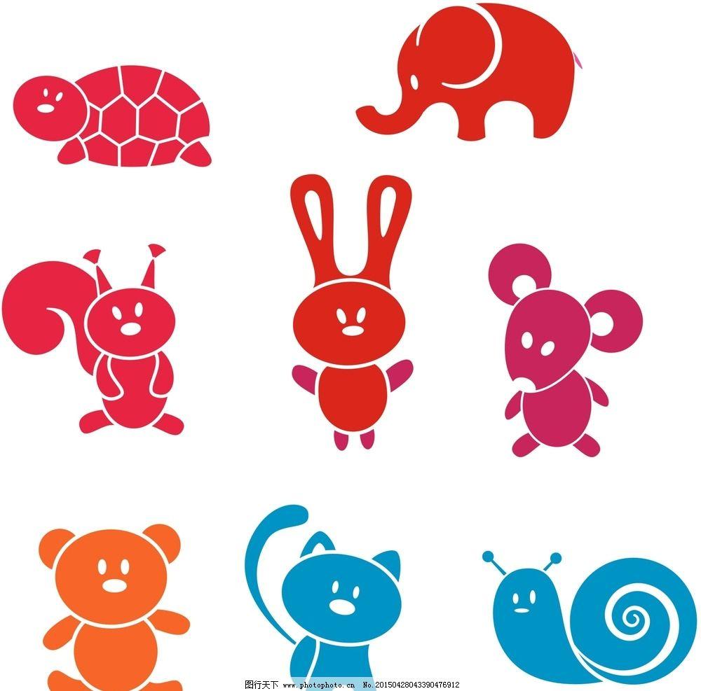 手绘动物插画 卡通素材 可爱 手绘素材 儿童素材 幼儿园素材 卡通装饰