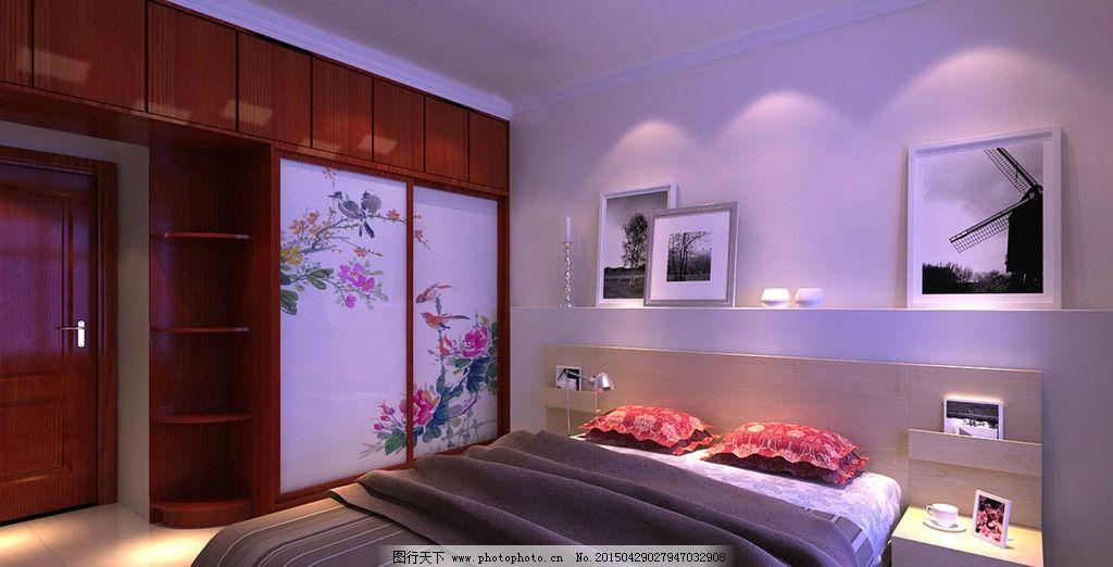 红木柜子 床 床头 移门