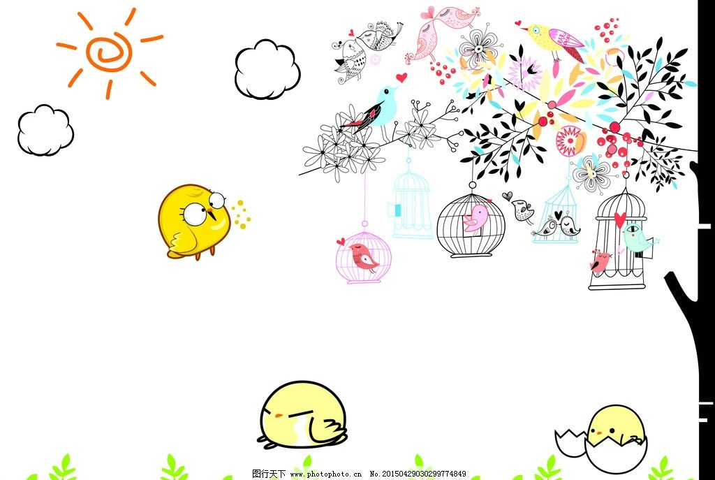 儿童简笔画图片_展板模板