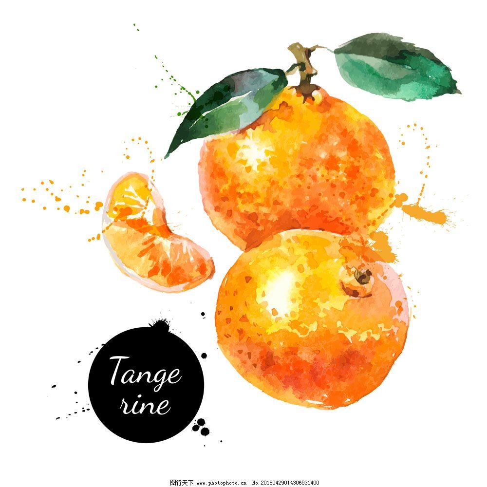 彩绘水果 彩绘水果免费下载 桃橘子 好吃的水果 原创设计 创意设计
