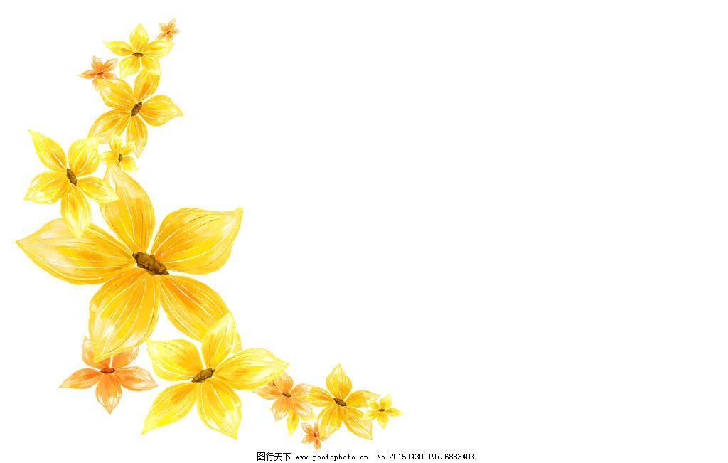 黄色手绘花