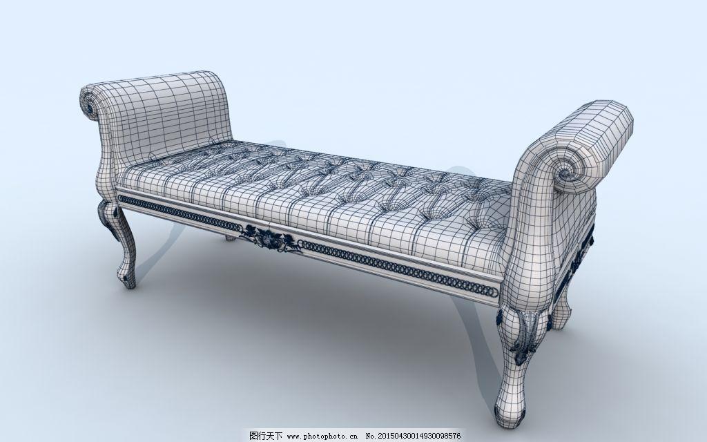 躺椅 模型 个性 欧式